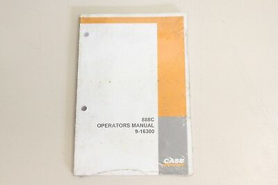CASE 888C 888 C   Bedienungsanleitung Operatiors Manual ENG 9-16300 NEU