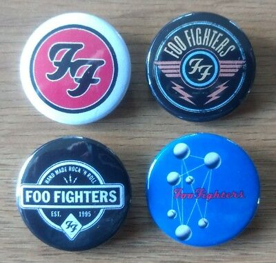 Foo Fighters 25mm button badges set of 4 Nirvana