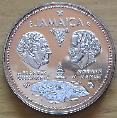 Jamaica 1972 10 Dollars; KM-60; Proof (#cr140)