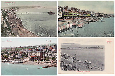 LOT of 4 POSTCARDS, ISLE of WIGHT (IOW), Sandown, Ventnor, Culver Cliff. Fine.