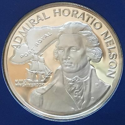Jamaica 1976 10 Dollars; KM-71a; Proof; Horatio Nelson (#cr139)