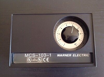 Warner Electric Brake/Clutch Torque Control MCS-103-1 Used excellent condition