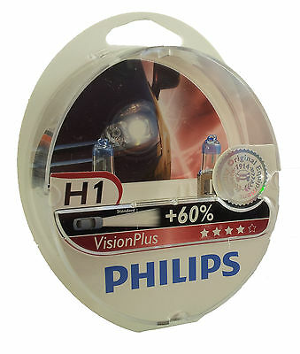 PHILIPS H1 Vision Plus +60% 12258VPS2  2er Set EAN 8727900363227