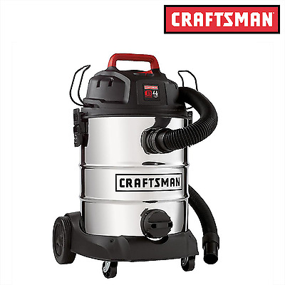 Craftsman 8 Gallon Stainless Steel 4 Peak HP Wet/Dry Vac / Wet-Dry Vacuums - NEW