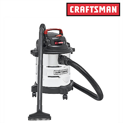 Craftsman Stainless Steel Wet Dry Vac 5 Gallon Vacuum Cleaner 3 Peak HP Blower