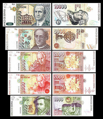 2x 1.000 - 10.000 Spanish Pesetas - Issue 1992 - 10 Banknotes - 01