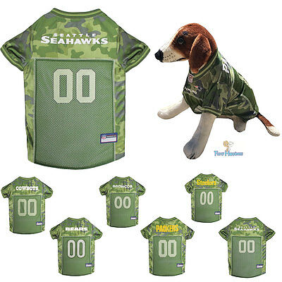 1af66b56ef4 NFL Fan Gear CAMOUFLAGE Army Shirt Dog Jersey for Dogs-PICK YOUR TEAM XS-