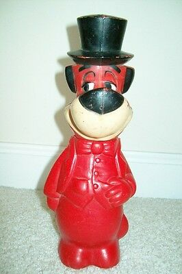 "Vintage 1960 Huckleberry Hound 10"" Plastic Bank by Knickerbocker"