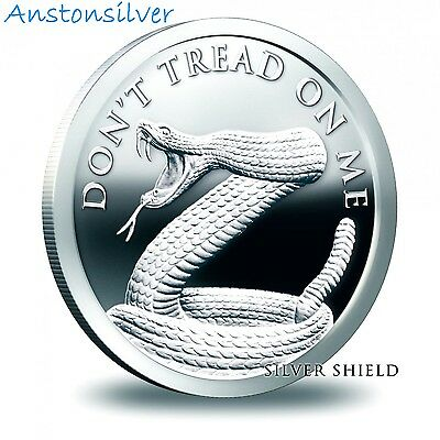 2017 Don't Tread On Me by Silver Shield - BU 1 oz .999 Silver Round