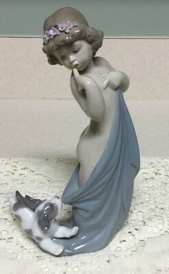 LLadro Girl With Naughty Puppy Figurine [mint Condition]