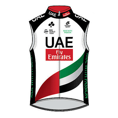 U.A.E. Team Emirates Wind Guard Vest Cycling Gilet