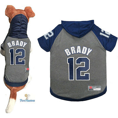 new concept 7ea3a 4b1d8 NFL FAN PLAYER Gear Dog Shirt Hoodie for Dogs-TOM BRADY #12 NEW ENGLAND  PATRIOTS