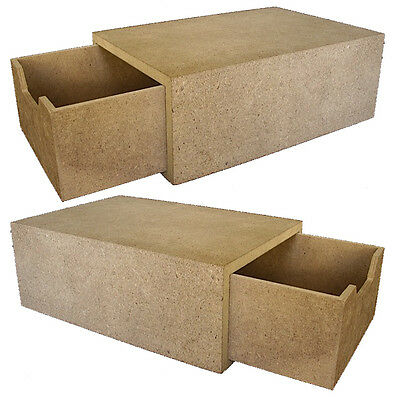 2 x Craft Wood/Craftwood Open End Drawer - for Decorating/Hobbies/Painting!!!