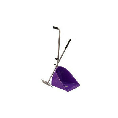 NEW Stable Mate Pooper Scooper adjustable Handle Purple Dog Horse Stable Poop