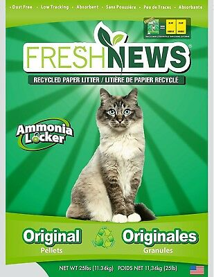 Fresh News Cat Litter Original Pellets Ammonia Locker Pet Supplies 11.36 Kg New