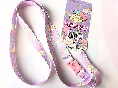 Little Twin Stars Kiki Lala Key Chain Lanyard Neck Strap Key Holder Sanrio Kawai