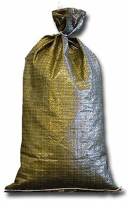 Military Sandbags Deluxe Quality - 20 Empty Heavy Duty Green Sand bag 14x26