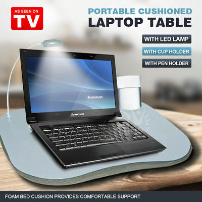 Multi-Purpose Lap Desk Equipped with Built-in Foam Cushion Holder Adjustable LED