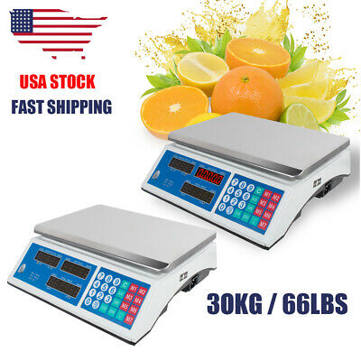 2X Digital Weight price computing Scale Price Computing  30KG commercial Market