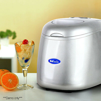 2L Ice Cube Maker Portable Design Makes 15kg Of Ice Every 24hrs Silver