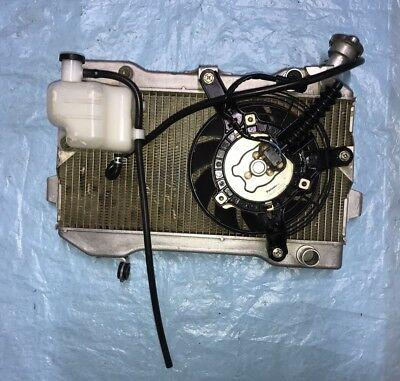 2007 Suzuki LTR 450 OEM Radiator Rad Assembly Cap Fan Coolant 06 07 08 09