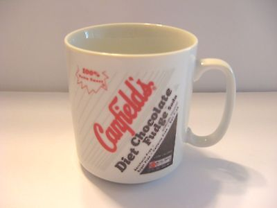 Canfield's Diet Chocolate Fudge Soda w/Nutra Sweet Ceramic Mug Cup Collectible