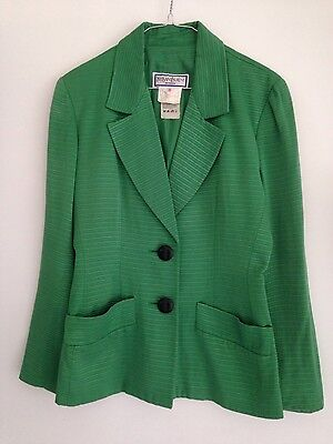 Womens Yves Saint Laurent Kermit green blazer jacket 36