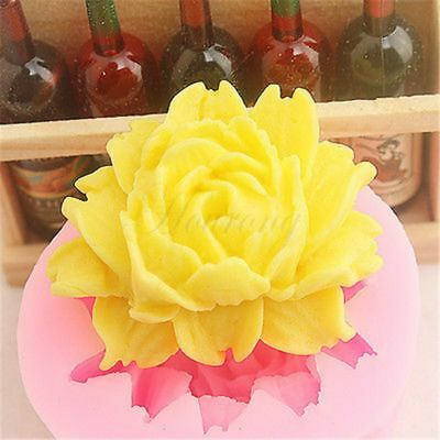 3D Big Rose Flower Silicone Mould Candy Cake Chocolate Mold Fondant Decoration