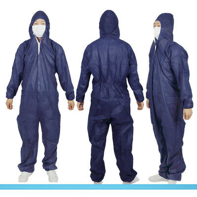 Disposable DIY Paper Suit Protective Overall Coverall Work Clothes New