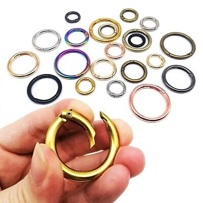 Spring O Ring Openable Pendant Findings Leather Bag Strap Belt Buckle Clasp Clip