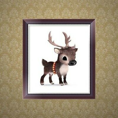 DIY Cute Deer 5D Diamond Embroidery Painting Cross Stitch Craft Home Decor