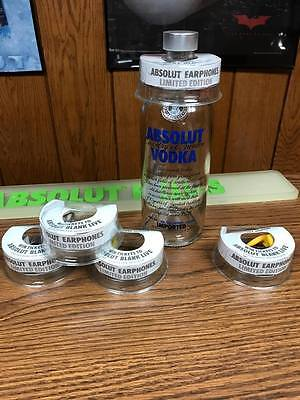 Rare Absolut Vodka Full Set Of 5 Uk Earbud Topper / Toppers -No Gustafson Glow