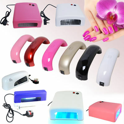 New 9W UV/36W LED Gel Curing Lamp Light Nail Dryer with Timers White/Pink Beauty
