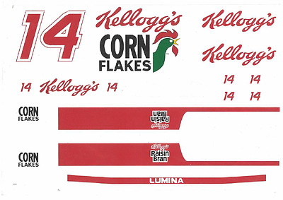 Kellogg's Corn Flakes Nascar, Waterslide Decals 1:32 and 1:24 Brand NEW