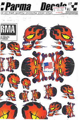 10634 Parma, Hot Skulls, Vinyl Stick On Decals, 1:32 and 1:24 Brand NEW