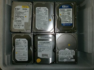 "JOB LOT 24 X 3.5"" IDE Hard Drive HDD 250GB Various Brands Seagate Maxtor & more"