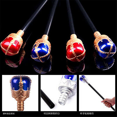 Royal Sceptre Medieval King Queen Scepter Red Staff Wand Costume Accessory