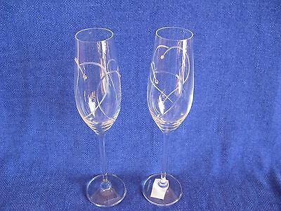 Royal Doulton - Two Hearts Entwined Champagne Flutes