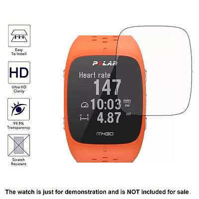Clear LCD Screen Protector Guard Cover Shield Film for Polar M430 Sporting Watch