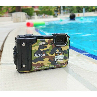 Nikon COOLPIX W300 Digital Camera Green / Camouflage Multi Ship from US