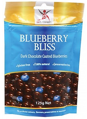 Dr Superfoods Dark Chocolate Blueberries (Dairy Free) 125g