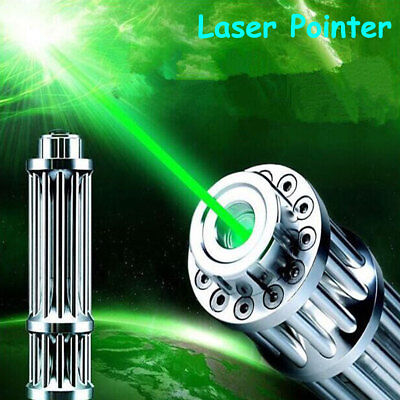 High Power Laser Pointer Pen Green 532nm Military Zoomable Burning Beam 2*16340