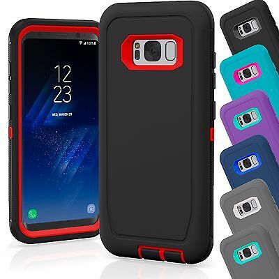 For Samsung Galaxy S8 / S8 Plus Case Cover Shockproof Hybrid Hard Rugged Rubber