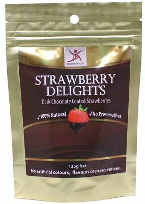 Dr Superfoods Dark Chocolate Strawberries (Dairy Free) 125g