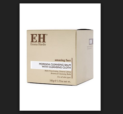 Emma Hardie Amazing Face Moringa Cleansing Balm 100g & Cloth Cellophane Sealed