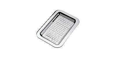 Christofle Rectangular Tray Trinket -Peace Etched In 49 Languages-Clara Halter