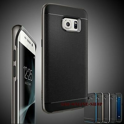 For Samsung Galaxy S6 S7 Edge Shockproof Hybrid Rubber Bumper Skin Case Cover
