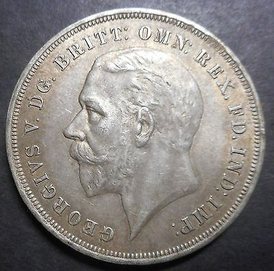 Great Britain 1935 KGV Jubilee   Crown Silver Coin aUNC Underlying Mint lustre