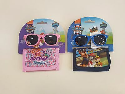 Kids Paw Patrol Sunglasses and Wallet Set - 400 Uv Protection - Brand New