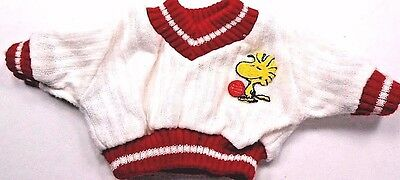 "Snoopy's Wardrobe Vintage Peanuts Tennis Sweater Fits 11.5"" Plush Baby Tag 1958"